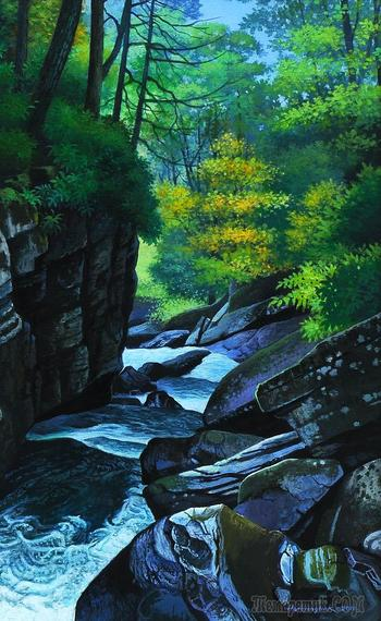 Корейская живопись. Хан Хён Хак - Han Hyong Hak (한형학). Республика Корея