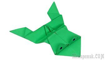 Как сделать прыгающую лягушку из бумаги 🐸 Лягушка оригами