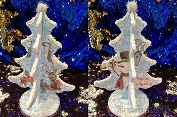 Новогодний декор своими руками/Декупаж новогодней елочки