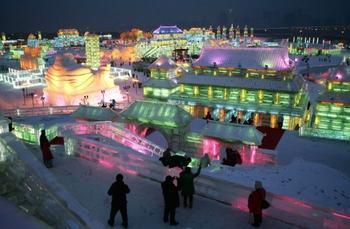 Фестиваль снега и льда в китайском городе Харбине