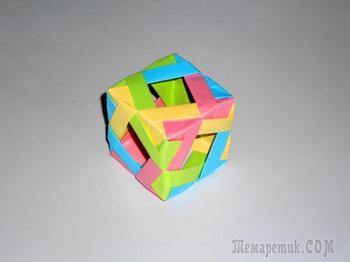 Оригами куб или бумажный кубик