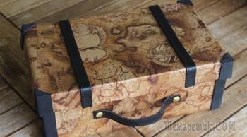 Декоративный чемодан – упаковка для подарка или креативная вещь своими руками