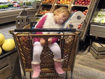 17 малышей, которые просто свалились от усталости