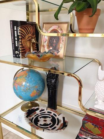 Вазочка из веревки для интерьера в египетском стиле
