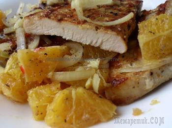 Любимая сальса из апельсинов к свиным отбивным