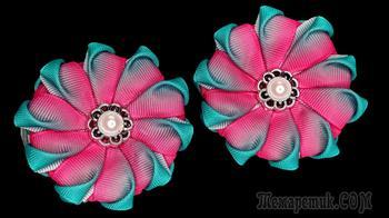 Бантики зефирки из лент. Мастер класс КАНЗАШИ цветы из репса