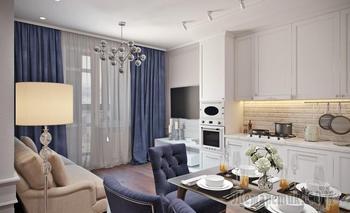 Московская квартира 45 м² в неоклассическом стиле