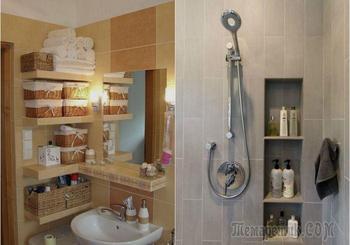 Хранение в ванной: 23 крутые идеи для любого пространства