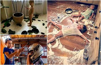Маленькие детки - маленькие бедки: 17 снимков о шалостях заводных малышей