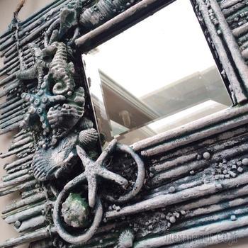 Декор стен | Рама для зеркала из газетных трубочек