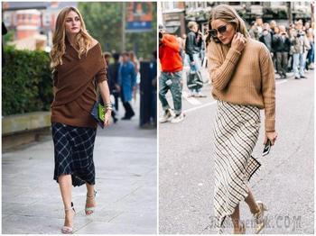 Самый модный дуэт зимы 2018-2019: свитер + юбка
