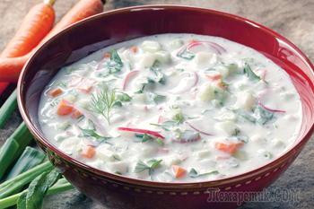 Холодный суп - окрошка на квасе