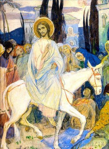 Картины, фрески и иконы Входа Господня в Иерусалим