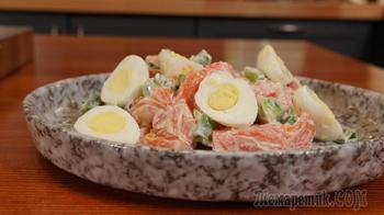 Простой и вкусный салат с форелью