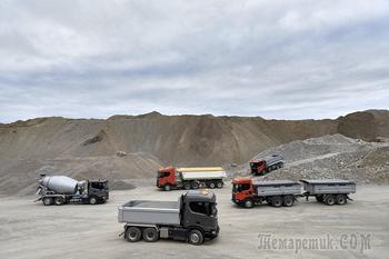 Новые тяжеловозы Scania XT для строительной отрасли