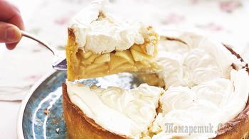 Цветаевский яблочный пирог с меренгой (безе) | Вкусный, нежный, как торт!