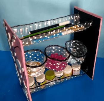 Удобный органайзер для мелочей из подручного материала