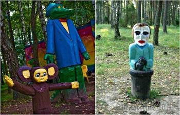 Счастливое детство глазами ЖКХ: 17 чудовищных скульптур, установленных на детских площадках