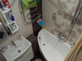 """Моя ванная: даже на 2,32 """"квадратах"""" удобно делать """"куп-куп"""" с маленьким ребенком"""