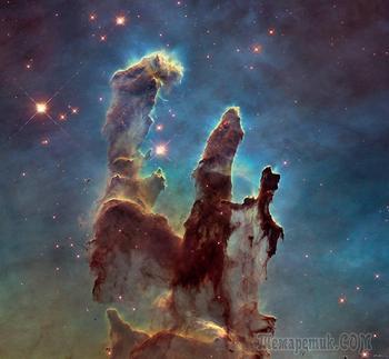Самые интересные находки телескопа Хаббл в космосе