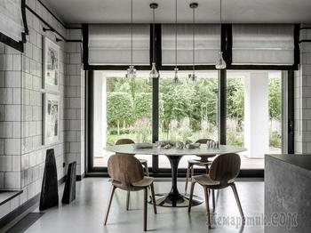 Необычная архитектура и модный дизайн с современным искусством: дом в Подмосковье