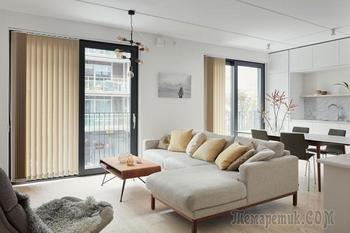 Современная квартира, полная уюта и нежности