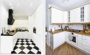 Белые кухонные гарнитуры: примеры из реальных московских квартир