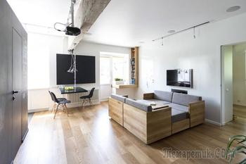 Современный дизайн трехкомнатной квартиры 80 кв. м. в Москве