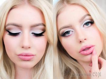 Белый макияж — нежность ваших глаз
