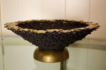 Чаша для муляжей фруктов, сделанная из пазлов