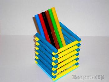 Подставка для карандашей из бумаги