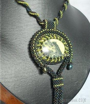 Создаем шикарный кулон «Лесной омут»