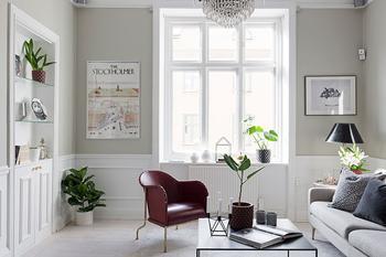 Приятные пастельные интерьеры в скандинавской квартире