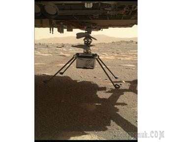 Вертолет NASA Ingenuity установлен на поверхность Марса для полета