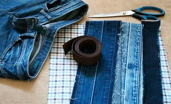 Стильная сумка из старых джинсов