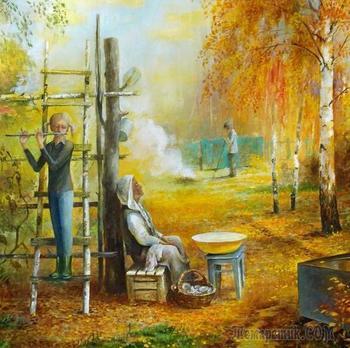 Родные сердцу милые места и люди,те,что рядом с нами...Художник Владимир Берёзин