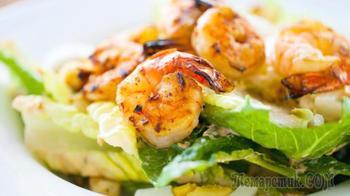 Салат с креветками | Очень вкусный соус для салата