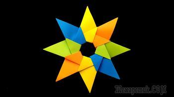Удивительно простая звезда из бумаги