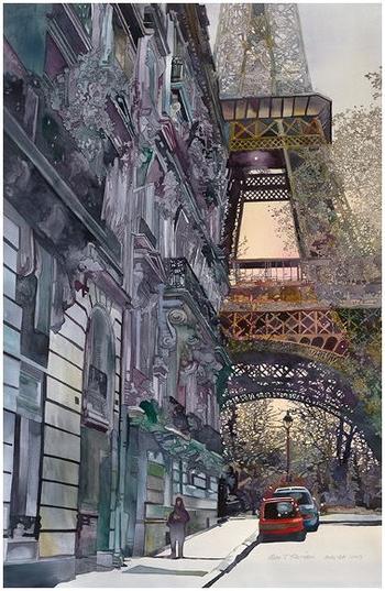 Городские пейзажи художника-акварелиста Джона Салминена (John Salminen)