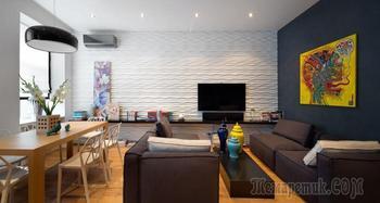 Современный дизайн 3-комнатной квартиры 80 кв