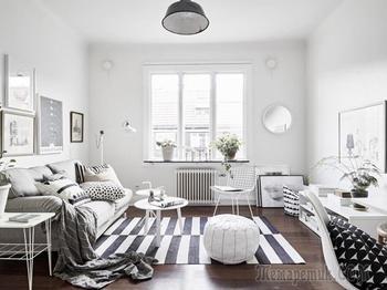 Интерьер двух малогабаритных квартир в скандинавском стиле