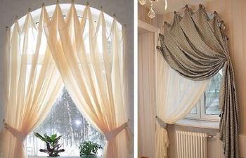 15 оригинальных идей как повесить шторы без карниза