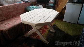 """Простой садовый стол """"Рубин"""" и """"скрещивание"""" технологий"""