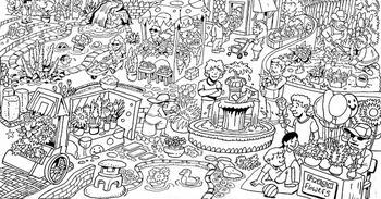 А у вас получится найти 5 смайликов на этой забавной визуальной головоломке?