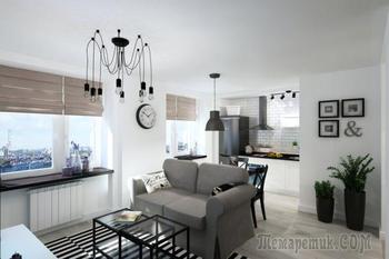 Квартира-студия 33 кв. м: функциональный и практичный интерьер