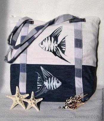 Создаем стильную сумку «Море зовет» своими руками