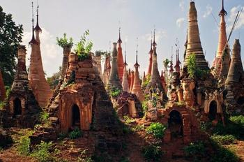 Сказочный след средневековья в Мьянме