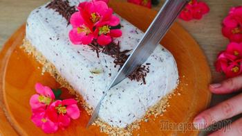 Бесподобный торт без выпечки на хрустящей подушке!