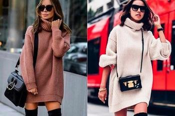 Трикотажные платья модные в 2020