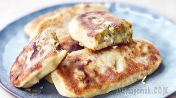 Жареные пирожки с картошкой - Тесто на кефире, без дрожжей, очень вкусное